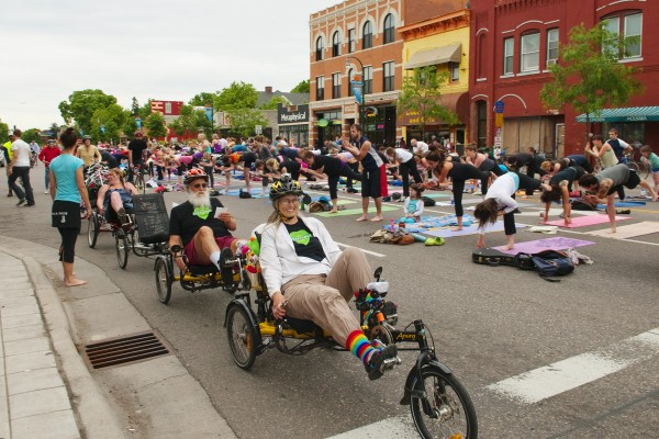 An open streets initiative in Minneapolis. Photo credit: Bethany Heemyer. Via StreetsBlog